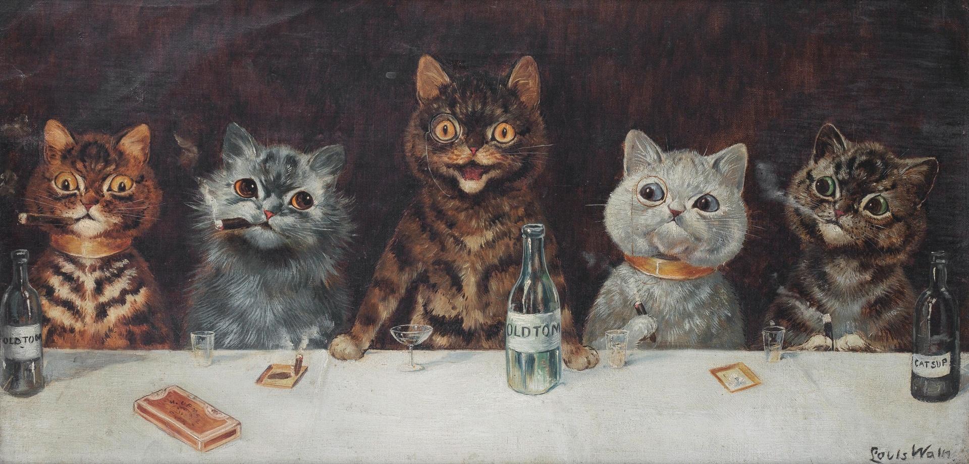Cats - Louis Wain Print | CC0